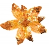 Motif Beaded with brooch Pin Flower Combo Orange